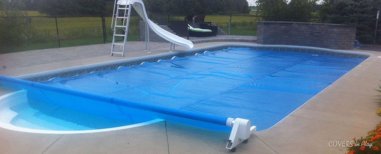 Automatic Pool Covers | Retractable Pool Cover Reel for Inground Pools